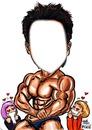bodybuilder caricatura