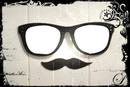 2 photos dans des lunettes