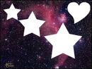 Estrellas y un corazon en el espacio