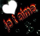 1 coeur avec écrit jtm enflammé