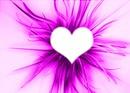 coeur dans un fonc violet