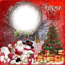 1 photo Joyeux Noël neige créa iena
