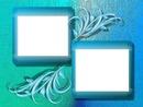 cadre bleu vert