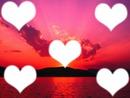 coeurs coucher de soleil