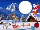 Cadre Noel a la montagne*