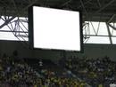 ecran dans un stade de foot
