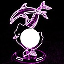 neon purple dolphin and sea shell-hdh