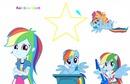 rainbow dash collage