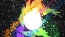 Apple tache multicolore