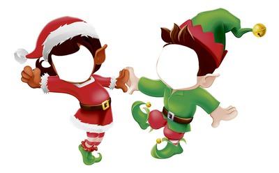 Les Lutins De Noel Photo montage lutins de noel   Pixiz