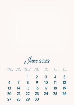 June 2022 // 2019 to 2046 // VIP Calendar // Basic Color // English