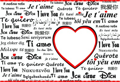 Y love you, ti amo,te quiero...