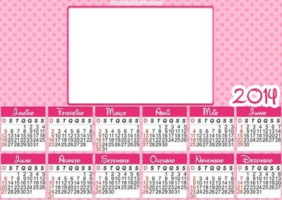 Calendario 2014 Rosa
