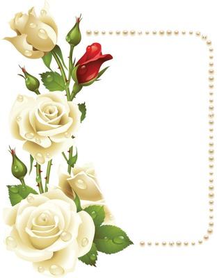 Fotomontage Cadre Fleur Rose Pixiz