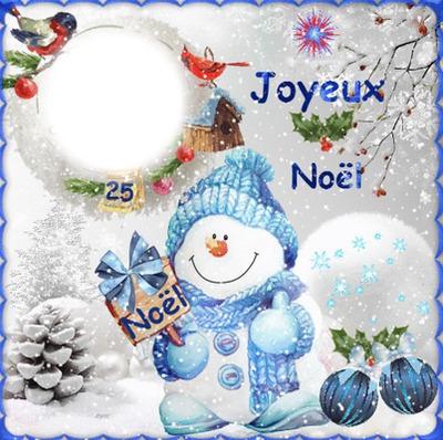 1 photo Joyeux Noël neige iena