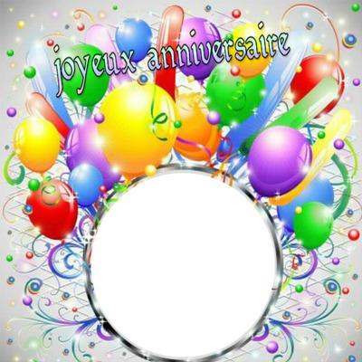 joyeux anniversaire 1 photo ballon