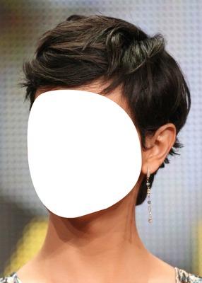 femme cheveu court