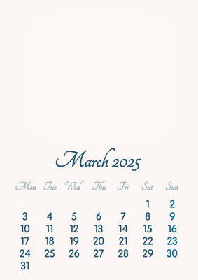 March 2025 // 2019 to 2046 // VIP Calendar // Basic Color // English