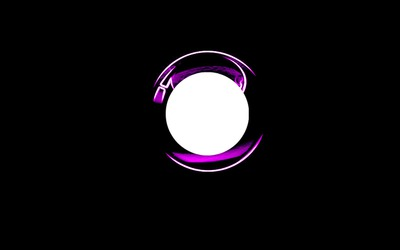 3d purple neon circle