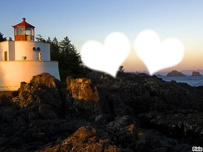 les 2 amoureux sous le coucher du soleil!!!