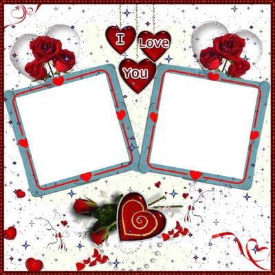 2 photos love coeur amour iena