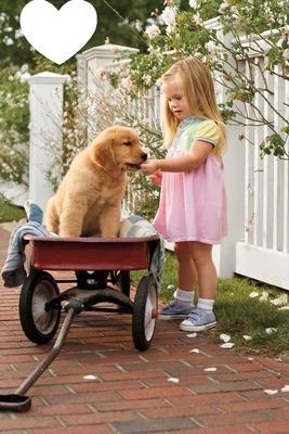 Labrador et petite fille
