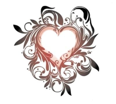 coeur fioriture