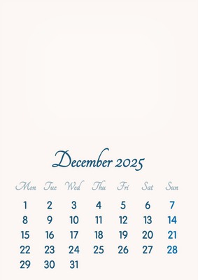 December 2025 // 2019 to 2046 // VIP Calendar // Basic Color // English