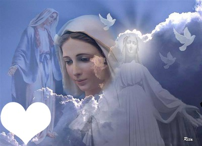 Photo Montage Sainte Vierge Marie Pixiz