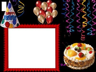 Přání k narozeninám, pro děti, dort, balonky