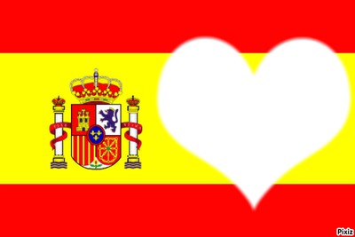 coeur drapeau espagne