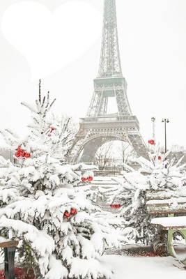Paris sous la neige a Noel