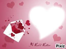 image d'une lettre d'amour