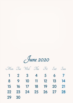 Calendar June 2020.Photo Montage June 2020 2019 To 2046 Vip Calendar Basic