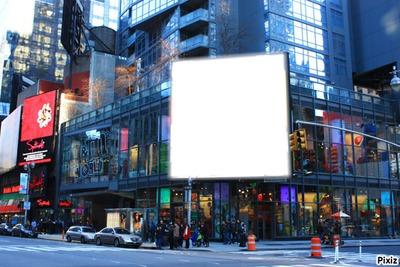 Panneau publicitaire N.Y
