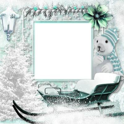 cadre noel blanc