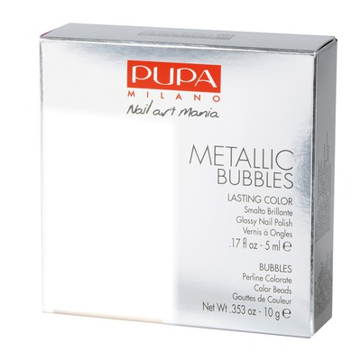 Pupa Metallic Bubbles Nail Art Kit Silver