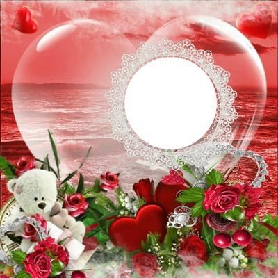 Montage photo coeur romantique pixiz - Photo de coeur d amour ...