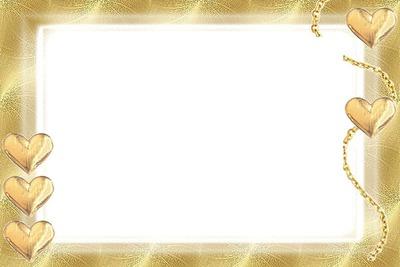cadre en or avec coeur