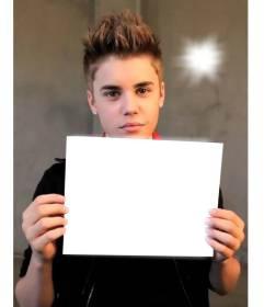 Montagem Quadro do Justin Bieber