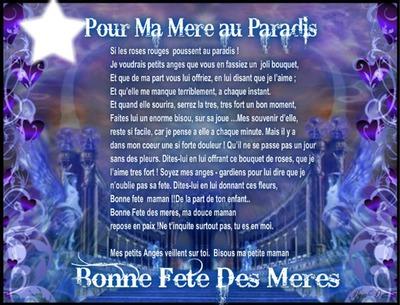 Montaje Fotografico Poeme Fete Des Meres Pixiz