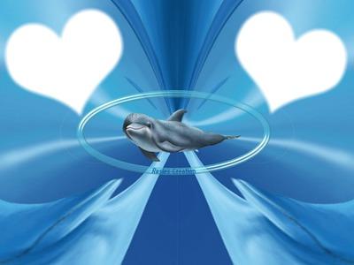 2 coeurs avec dauphain