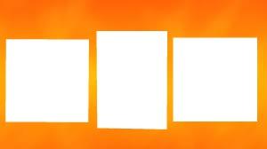 3 photos orange