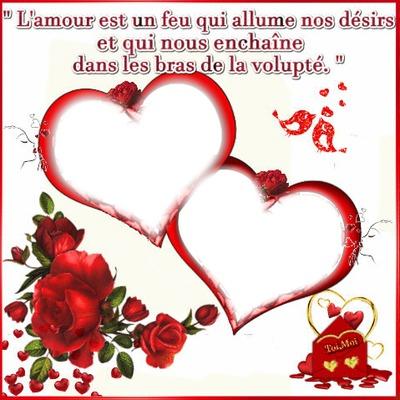 2 photos amour love coeur iena