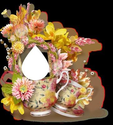 Tasse fleuries