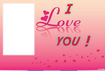 I love you rectangle pink 1