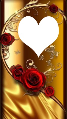 ROSES ON GOLD