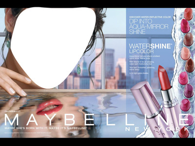 Maybelline Water Shine Lipstick Advertising