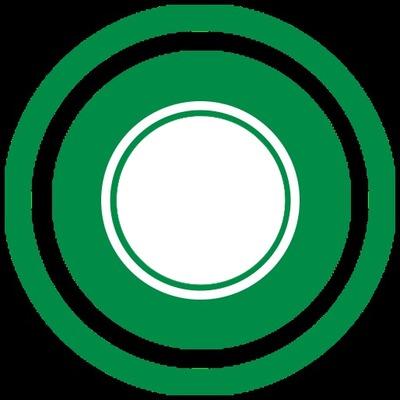 CIRCULO - Green And White Circle
