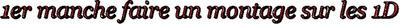 1er manche d'une concours sur les One Direction